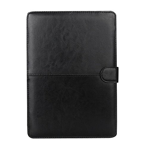 MacBook Pro 15 Book Case, fengus Premium Folio PU Leather Stand Cover Pouch Sleeve Bag Protective Carrying Envelope for Apple 15-Inch Macbook Pro 15.4 Inch with CD-ROM Drive( Models: A1286)-Black ()