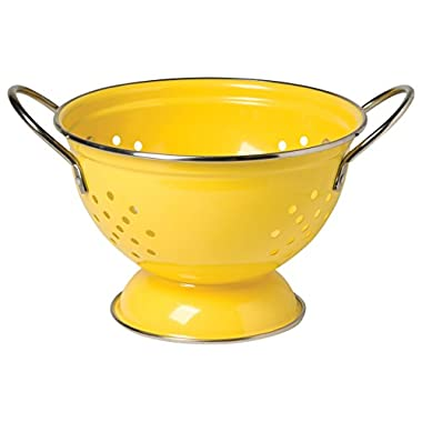 Now Designs Metal Colander, 1-Quart, Lemon Yellow