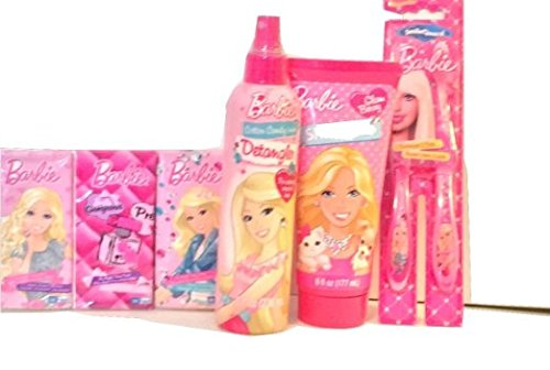 Barbie Bath Bundle - Detangler Shampoo Tissues and Toothbrushes