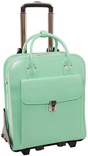 McKleinUSA LA GRANGE 96491 Green Leather Vertical Detachable-Wheeled Ladies' Briefcase (Mcklein Briefcase Italian)