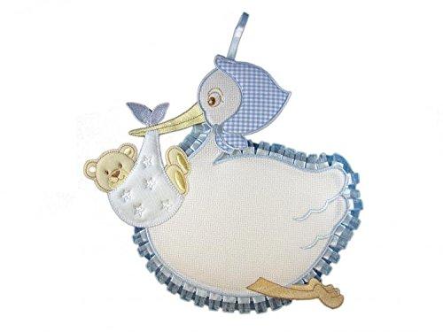auf Wunsch auch mit Name *NEU* Geburtsschleife zur Geburt//T/ürschild T/ürdekoration Libelle Blau Fiocco Nascita Coccarda Schleife