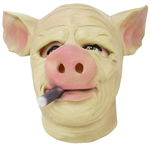 Half Man Half Woman Costume Pictures (Creepy Pig Head Mask Theater Ghost Halloween Costume Gift Durable And Have Good Elasticity Surface Tension Best Choice To Scare Your Friends.)