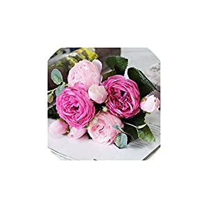 YP-fashion Artificial Flowers for Decoration Rose Peony Silk Small Bouquet Flores Party Spring Wedding Decoration Mariage Fake Flower,E 19