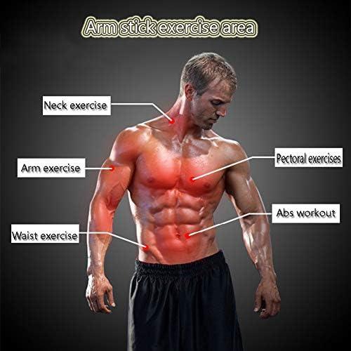 ヘビーデューティフィットネスエクササイズセット、パワーツイスターバー、Abローラー、テンションプーラー、グローブ、プッシュアップスタンドハンドルとハンドグリップストレングスナー、腕腹部と胸部のトレーニ