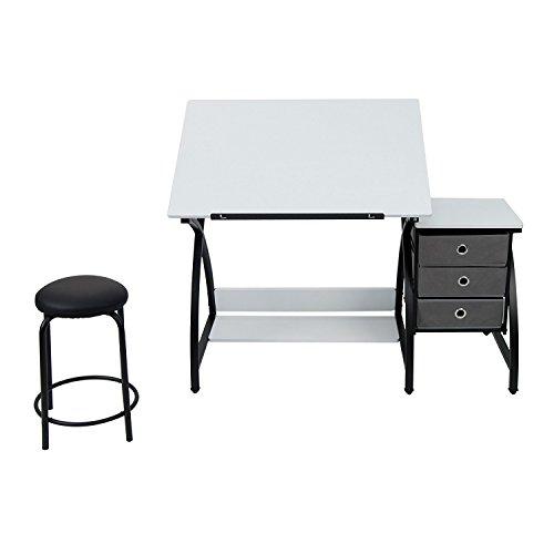 Studio Designs 13326 Comet Center with Stool, Black/White by SD STUDIO DESIGNS (Image #4)