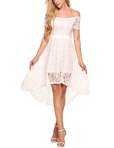 Women's Elegant Solid Sleeve Lace Maxi Evning Dress
