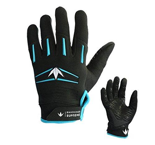 Bunker Kings Supreme Full Finger Paintball Gloves - Cyan - Small / (Paintball Jerseys Pants)