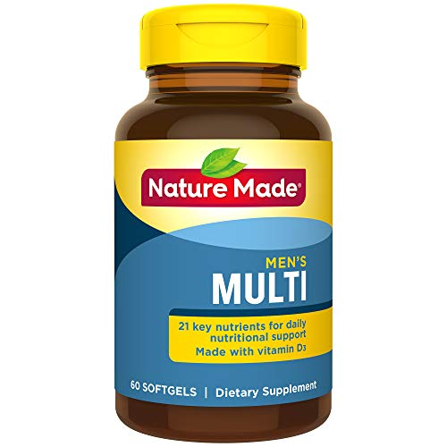 Nature Made Multi for Him Softgels - 22 Essential Vitamins & Minerals 60 Ct