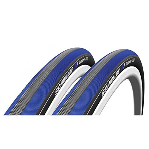 Schwalbe Lugano 700c x 23 Bike Tyres – Blue (Pair) by Schwalbe Review