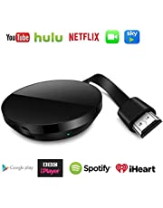ASENTER Wireless Wifi Display Dongle,HDMI 1080P 5G TV digitale Ricevitore Adattatore Streaming Media Player, Android per Chromecast YouTube, Netflix, Miracast Airplay iPhone/Android/Mac/Windows
