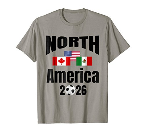North America 2026 Cup T-Shirt Football Canada USA Mexico