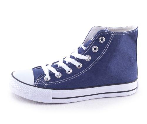 Mixmatch24 - Zapatillas de lona para mujer azul - Dk. Blue