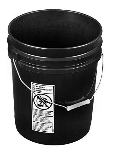 (Black 5 Gallon Bucket; Heavy Duty 90 mill.)