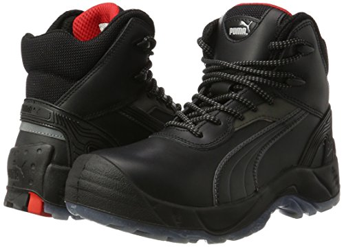 Puma Safety Shoes Pioneer Mid S3 SRC, Puma 630100-202 Unisex-Erwachsene Sicherheitsschuhe, Schwarz (schwarz 202), EU 45