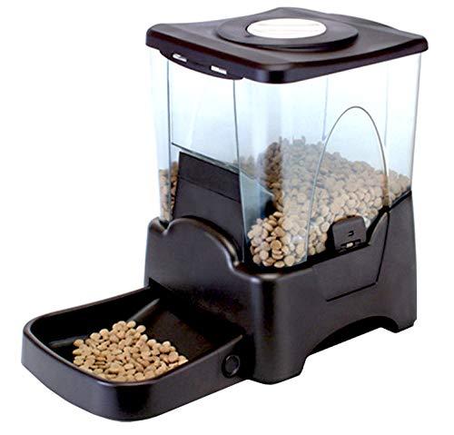 LHY Dispenser Automatico di Alimenti per Pet Feeder da 5,5 L, allarmi di distribuzione, Controllo delle porzioni, registratore vocale, programmabile, 3 pasti