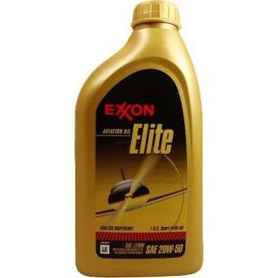 Mobil 1 Exxon Aviation Oil Elite 20W-50 Semi-Synthetic Aircraft Oil - 12 Quart Case - Exxon Mobil Oil