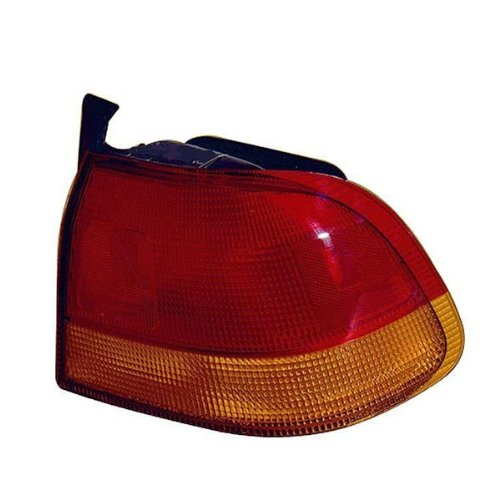 1996-1997-1998 Honda Civic 4-Door Sedan Rear Brake Taillight Taillamp Tail Light Lamp (Quarter Panel Outer Body Mounted) Right Passenger Side (96 97 ()