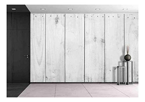wall26 - Wood Texture Background Old Panels - Removable Wall Mural | Self-Adhesive Large Wallpaper - 100x144 inches ()