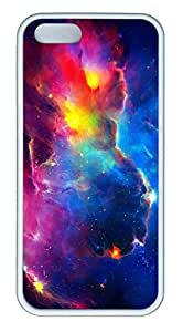 Gorgeous Galaxy Space 01 Soft Rubber White Case Cover iPhone 5S 5