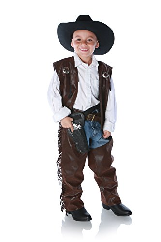 Underwraps Cowboy Chaps Costume, Large Brown -