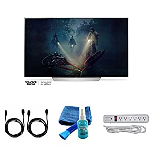 "2017 Model Series C7 Class 65"" 4K TV O LED TV Bundle - 2 4K HDMI 2.0 Cables,Surge Protector, Multipurpose Cleaning Spray And Cloth"