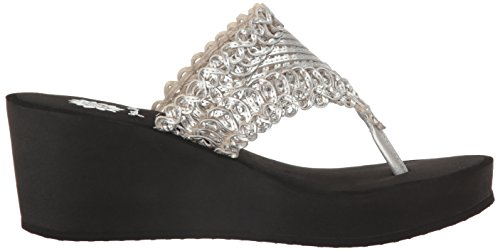 Yellow Box Women's Charm Wedge Silver rrqdH