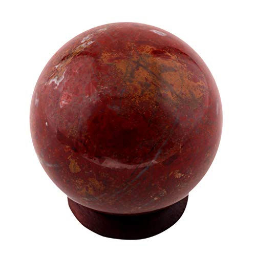SHIVANSH CREATIONS Exclusive Natural Gemstone Polished Crystal Sphere Ball Aura Balancing Metaphysical (55-60 MM, Red Jasper)