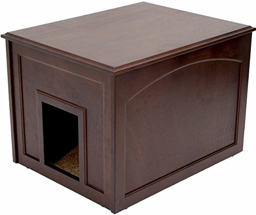 Crown Pet Products Dog Den Cabinet/Indoor Doghouse, Espresso