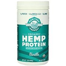 Manitoba Harvest Organic Hemp Protein Supplement, Vanilla, 16 Ounce