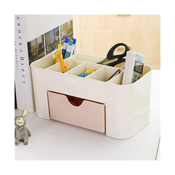 ABTRIX WITH AB Office Desk Organizer. Pen & Pencil Holder. Markers, Stationery Caddies for Office/Teacher Supplies Caddy Organizer with Drawer for Desktops 1