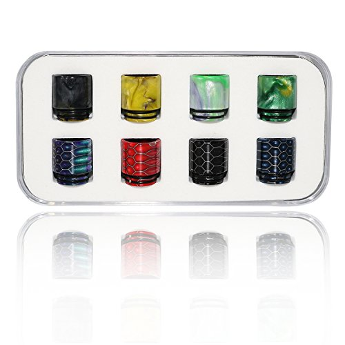 VAPELOPEK 810 Drip Tips for TFV12 /TFV8 /Baby Tank Epoxy Resin and High Anti-scalding(8 in 1).