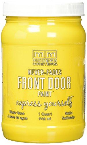 Modern Masters 275273 Satin Front Door Paint, 1 Quart, Happy (Best Paint Finish For Doors)