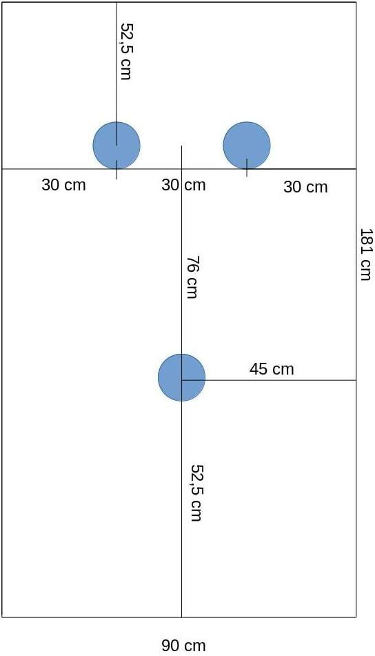 Arreditaly Piano Tavolo Vetro Temperato Trasparente Rettangolare Interni Ripiano Spessore 1.7 cm Dimensioni 181 x 90 Cm