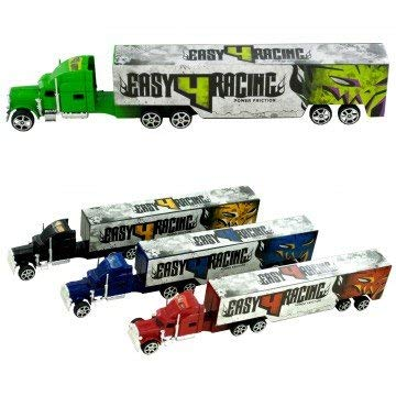 actor Trailer Truck with Realistic Details and Racing Decals ()