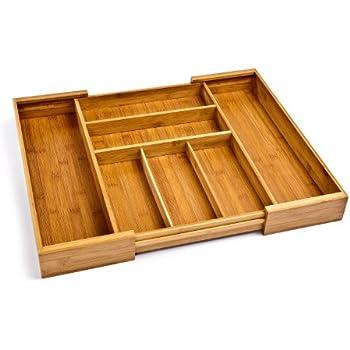 Amazon.com: Seville Classics - Bandeja de bambú ampliable ...
