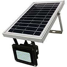 DINHAND Solar Lights Outdoor With Long 5m/16.4ft Extension Wire, 54 LED & 400 Lumen Ultra Bright, Wireless Solar Powered Floodlight, Waterproof Security Spotlight for Patio, Deck, Yard, Garden