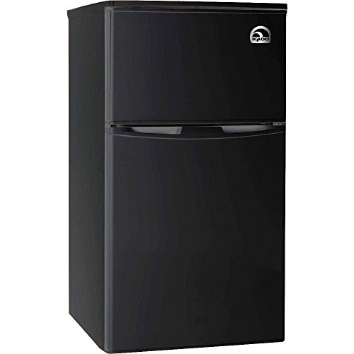 Igloo FR832-BLACK 3.2 cu. ft. 2 Door Fridge with Freezer, Black