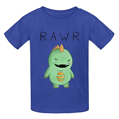 Dinosaur Goes Funny Child Crew Neck Graphic Tee (Nancy Stephens Halloween)