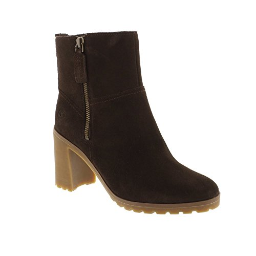 Timberland Allington Side Zip Chelsea - A1KLM Dark Chocolate Suede (Brown) Womens Boots 9 US (Chocolate Timberland)