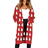 Best Happy Hours Shoe Trees - XOWRTE Women's Cardigan Knitted Christmas Tree Print Sweater Review