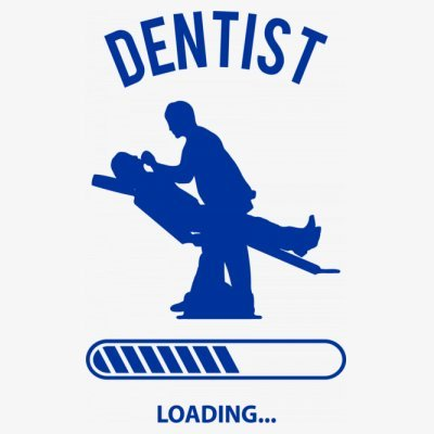 Sudadera con capucha de mujer Dentist Loading by Shirtcity Blanco
