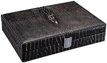 シガーボックス、シガーヒュミドール 葉巻ボックス葉巻ヒュミドールまろやかな杉ウッドワニ皮保湿ボックス保湿キャビネットギフトボックスシガーボックス