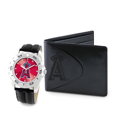 """Game Time Men's MLB-WWS-LAA """"Watch & Wallet"""" Watch - Los Angeles Angels"""
