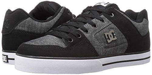 DC Men's Pure Tx Se Skateboarding Shoe, Black, 7 M US