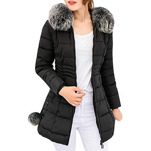 Clearance Coat COPPEN Women Hooded Outwear Warm Long Christmas Fur Collar Cotton Parka Slim Jacket]()
