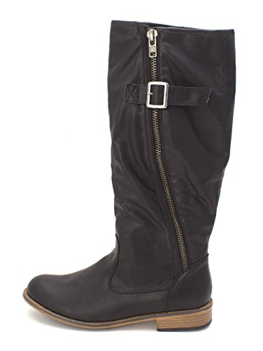 Just Fab Womens Autumn Closed Toe Knee High Fashion Boots  Black  Size 9 0