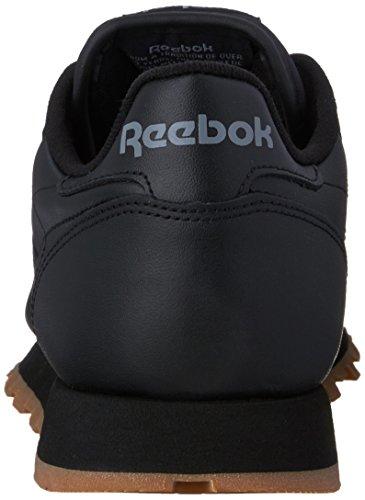Reebok Mens Klassiska Läder Walking Sko Us-svart / Gummi