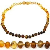 Amber Teething Necklace - Truly Raw 100% Baltic Amber  Rainbow