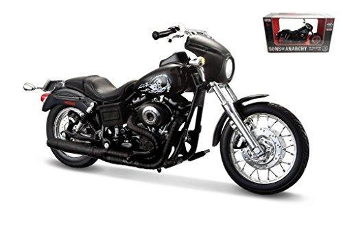 Maisto Sons Of Anarchy 2003 Harley Davidson Dyna Super Glide Sport Motorcycle 1 12 Scale Pre Built Model Black