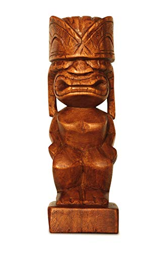 (G6 Collection Handmade Wooden Primitive Angry Face Tribal Statue Sculpture Tiki Bar Handcrafted Unique Gift Art Decorative Home Decor Accent Figurine Decoration Artwork Hand Carved (Model B))